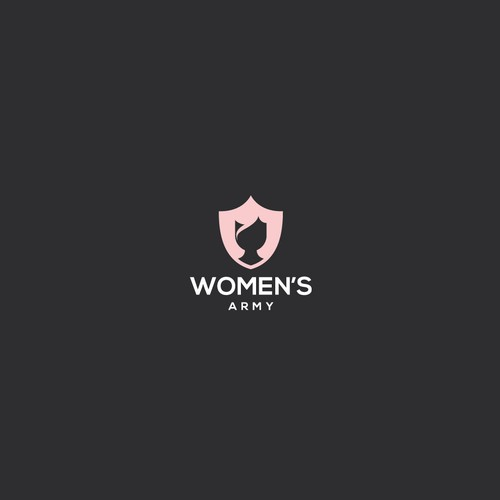 logo concept for women's army
