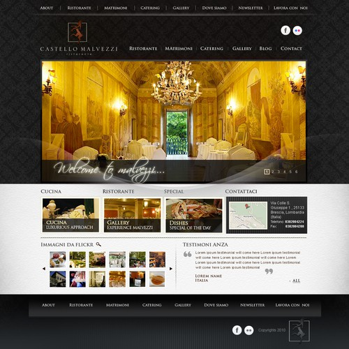 Rebuild our website: Important restaurant in italy
