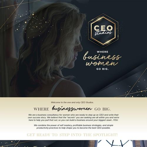 CEO Studios Landing page