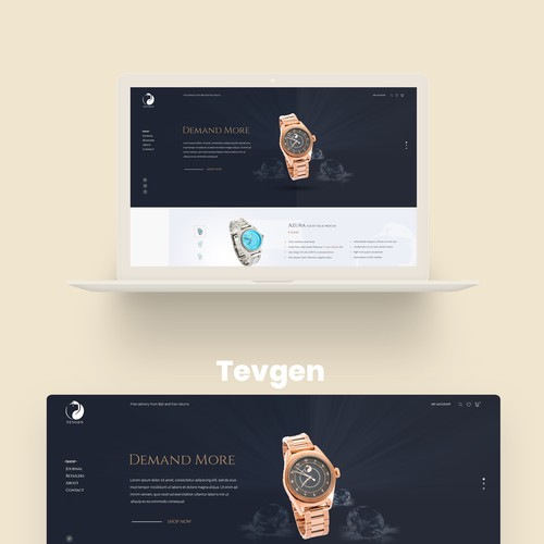 Design Website for Luxurious Watch Brand