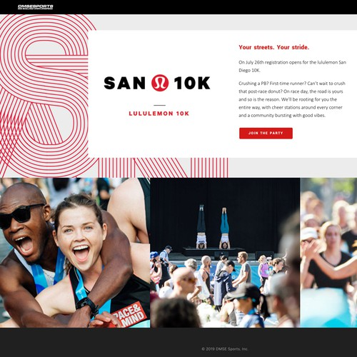 Responsive Website Design With Customizations for Sporting Event Company