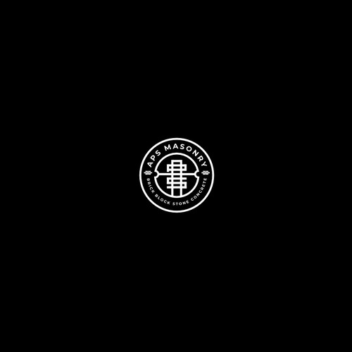 Bold logo design for construction