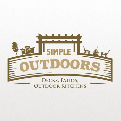 Create a stand out logo for Simple Outdoors, we build decks, patios, and outdoor kitchens.