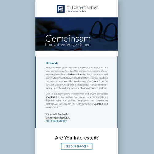Financial Company Email Newsletter Design