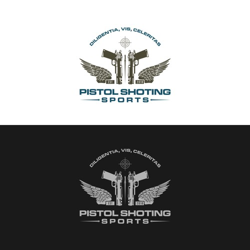 "Design Retro style logo for ""Pistol Shooting Sports"""