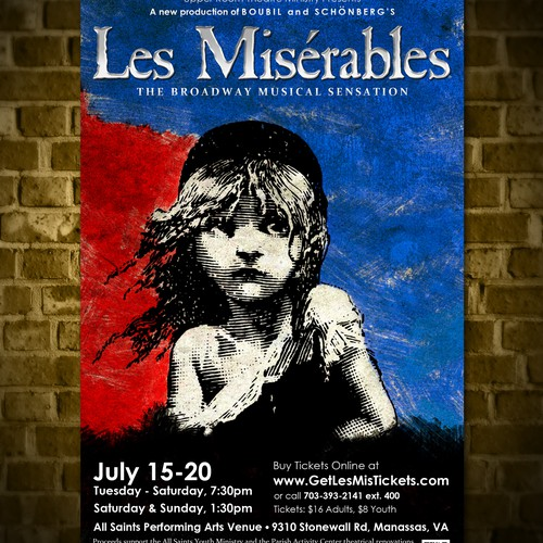 """Poster Design for New """"LES MISÉRABLES"""" Musical Theater Production"""