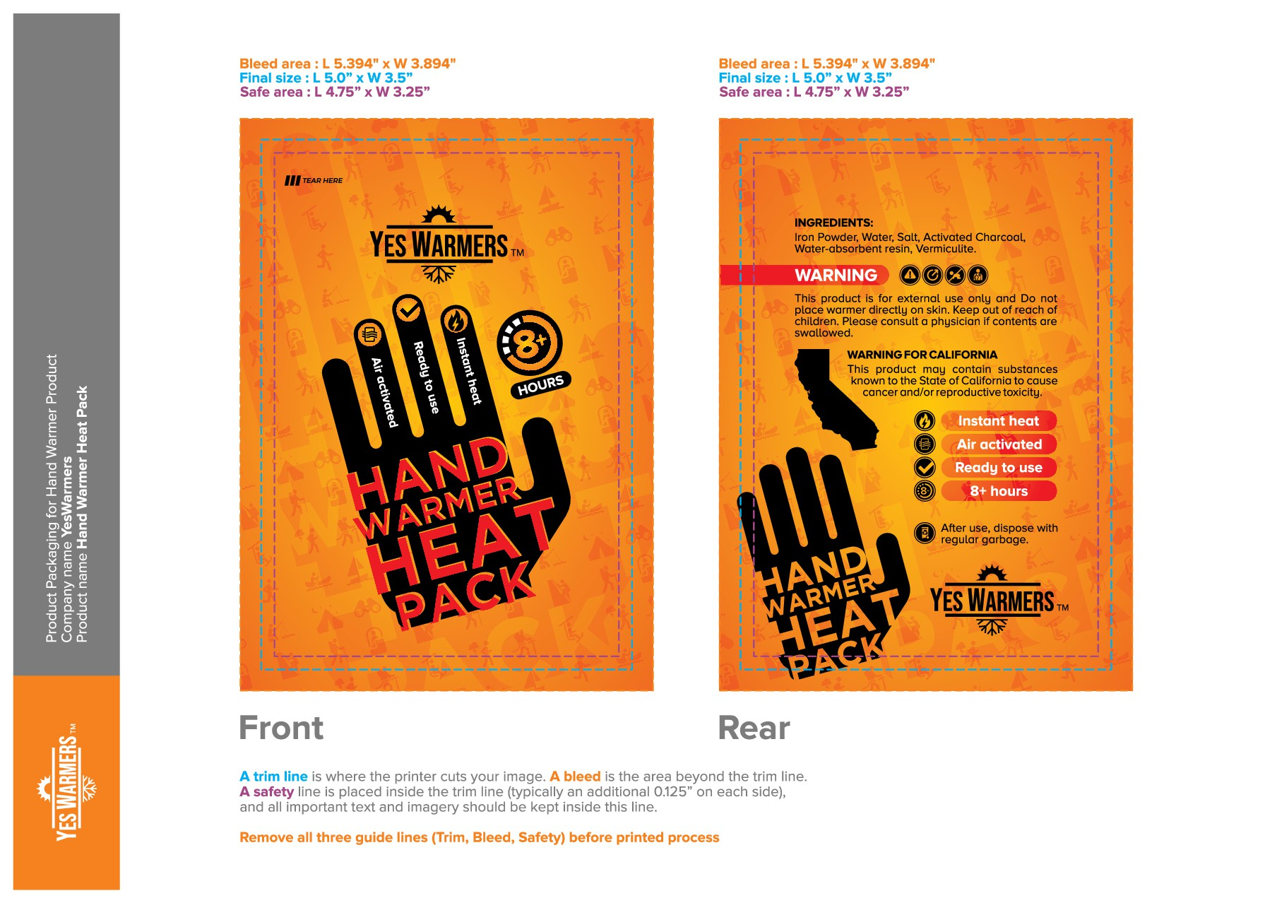 Product Packaging for Hand Warmer Product