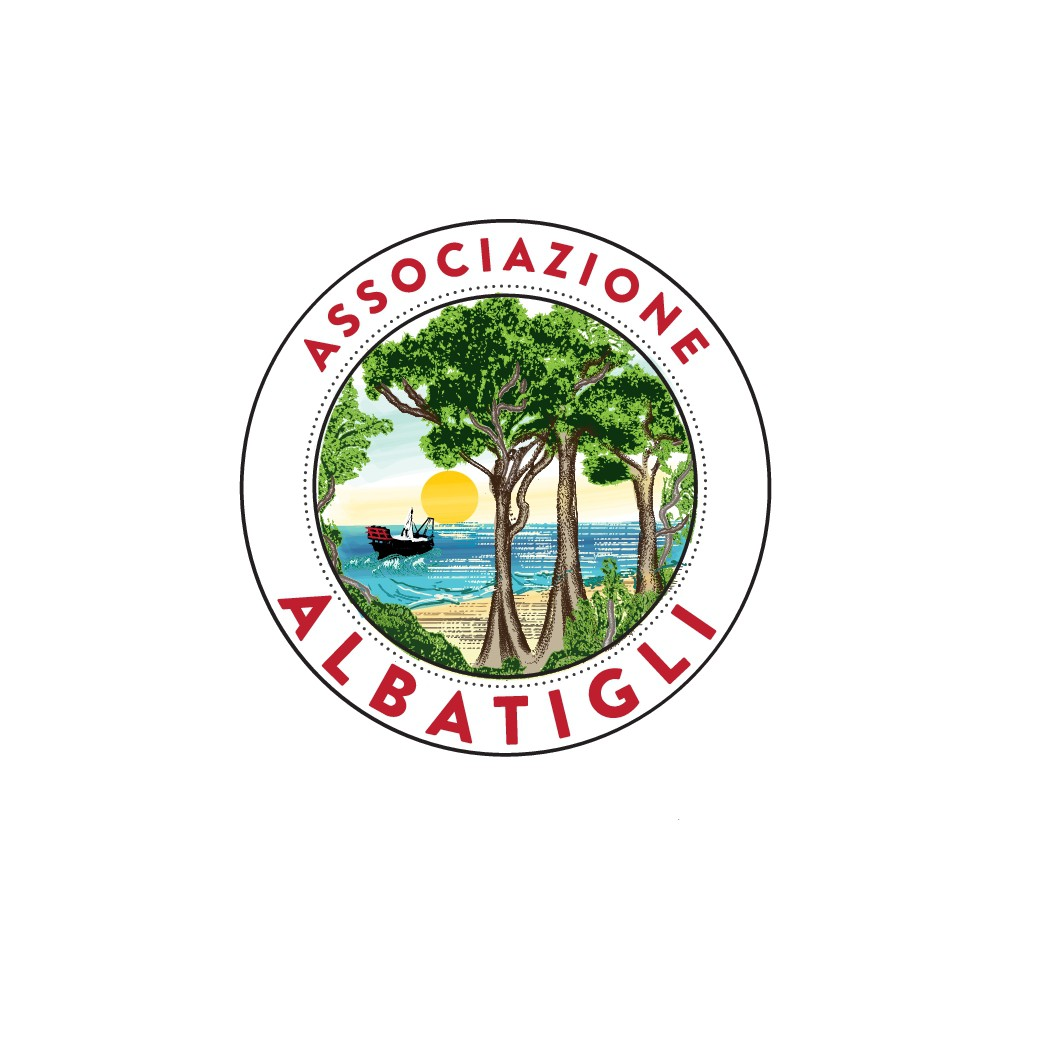 An illustrative, authentic, hand-drawn colourful logo for a local association in Abruzzo, Italy