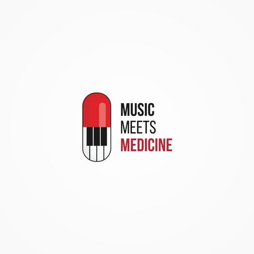 logo concept for music meets medicine