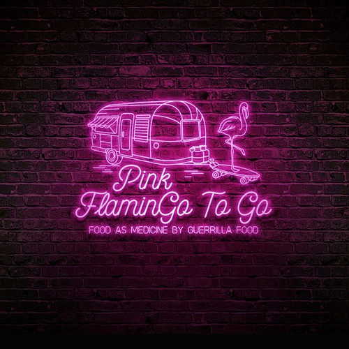 Neon logo for Pink FlaminGo To Go