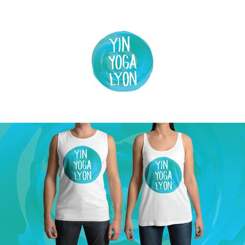 Yin Yoga Lyon Logo Design
