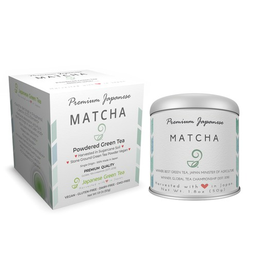 Box for the tea matcha package