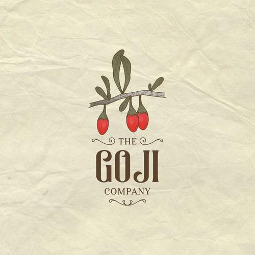 Logo for a goji berry company