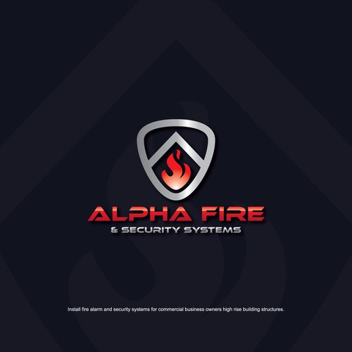 Fire alarm and security systems logo design