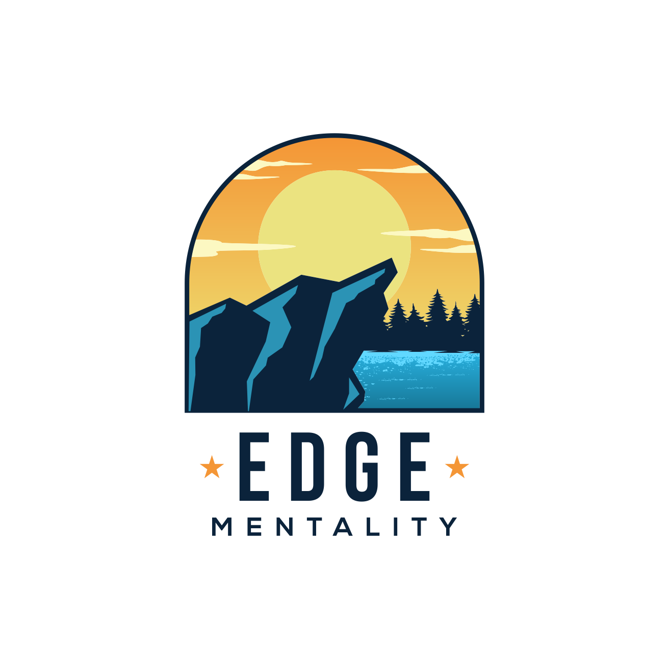 Craftsman style logo for a mental strength program that appeals to elite performers