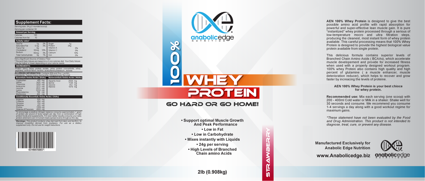 New print or packaging design wanted for Anabolic Edge Nutrition