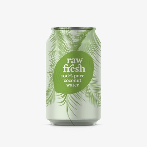 Raw Fresh coconut water product logo