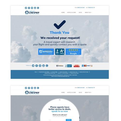 Landing page Entry design