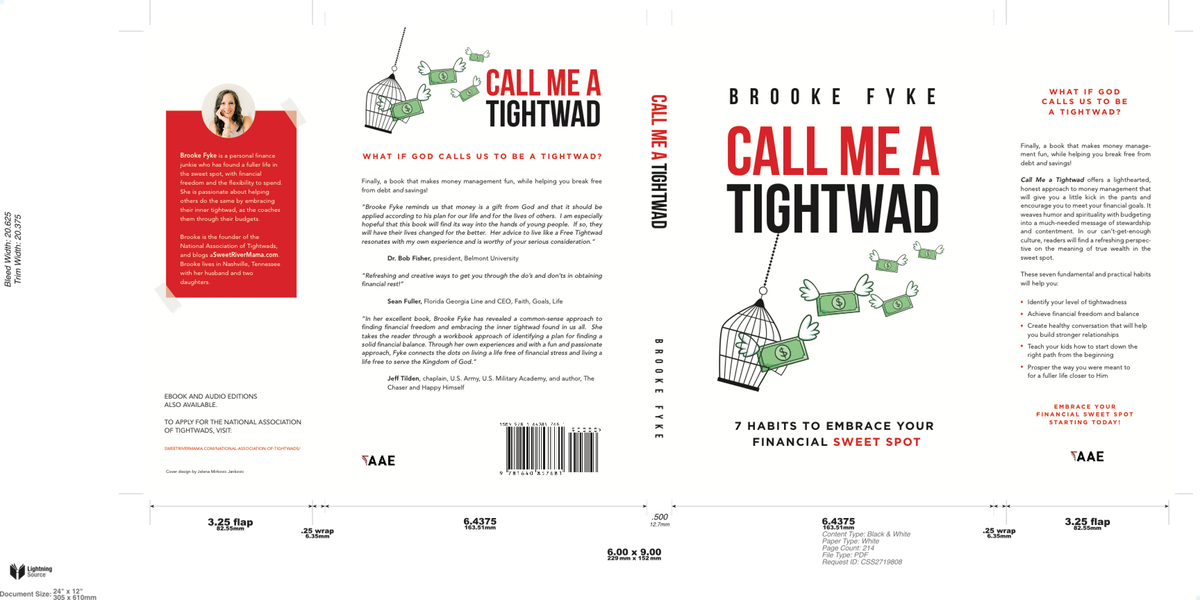 Call Me a Tightwad - cover wrap-up
