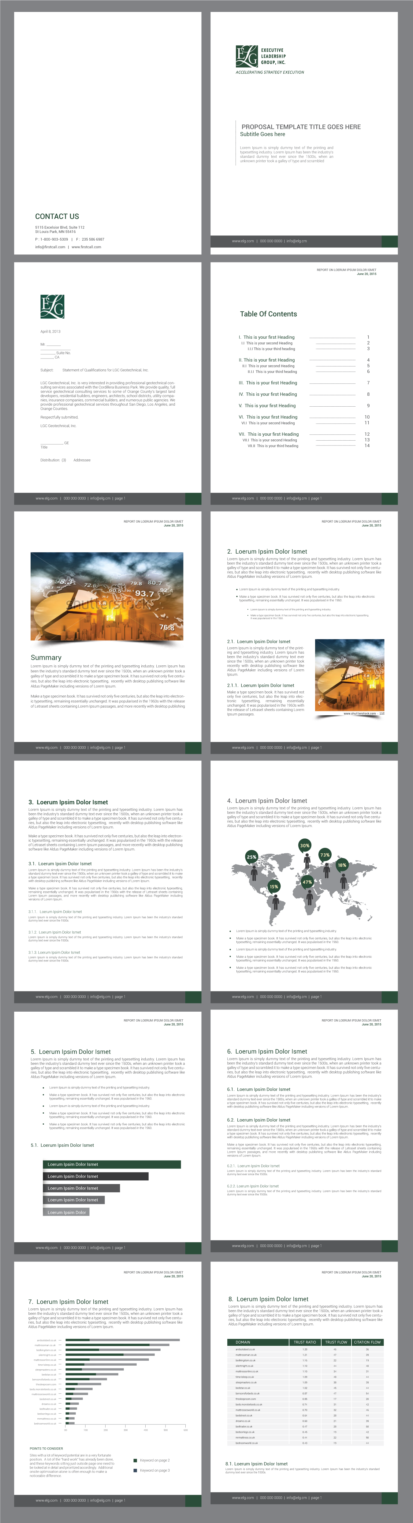 Graphic Design of a Report Template for an Elite Business Consultancy in the DC Metro Area