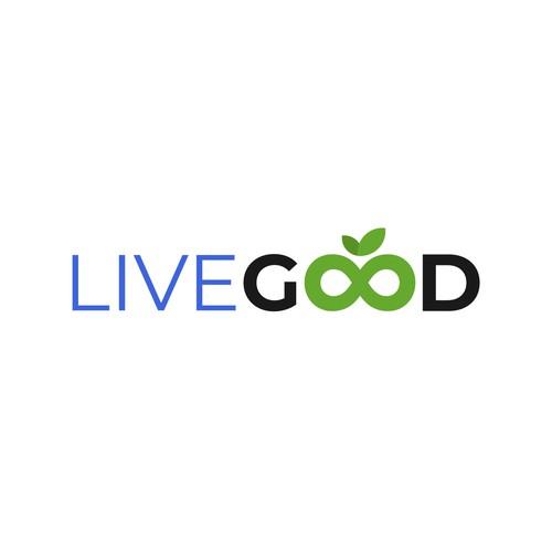 Modern logo for nutritional supplement website.
