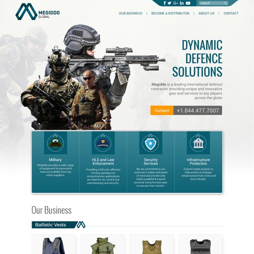DEFENSE AND AEROSPACE -Contract Sewing WEBSITE REDESIGN