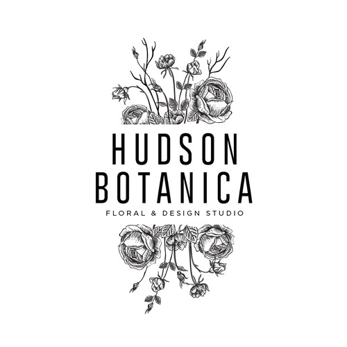 Logo design for Hudson Botanica