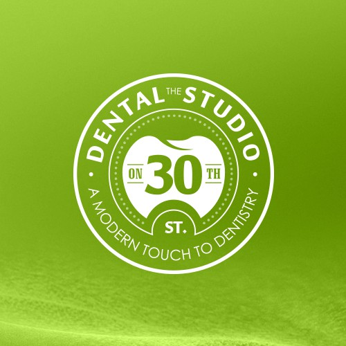 Create a modern logo design for The Dental Studio on 30th.