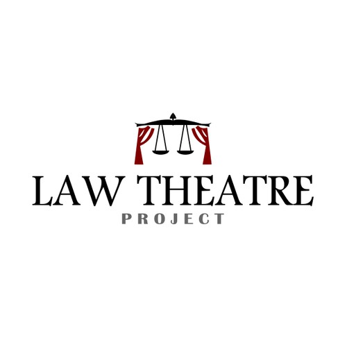 Logo for an organisation of theatre performers and educational professionals who create law related plays