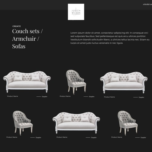 Interior (& fashion) Designer needs Complete Creative looking website