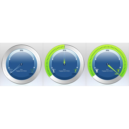 Info graphics for filling meter