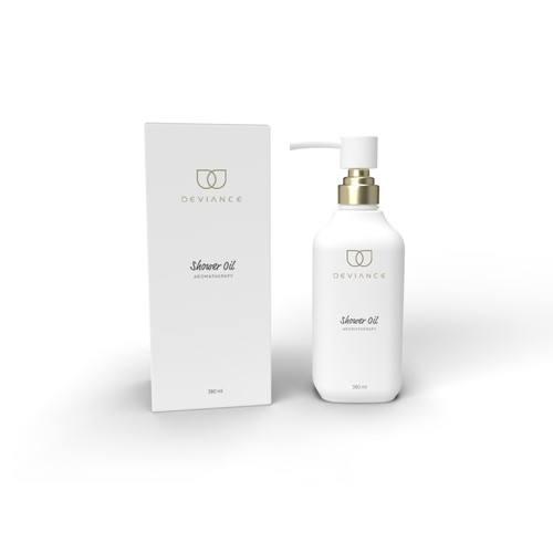 Product packaging for shower oil product