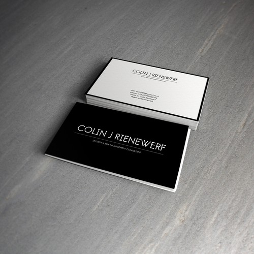 Business Card for Colin J Rienewerf