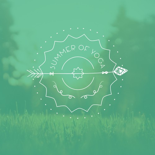 Create a sacred geometry logo for online yoga retreat course
