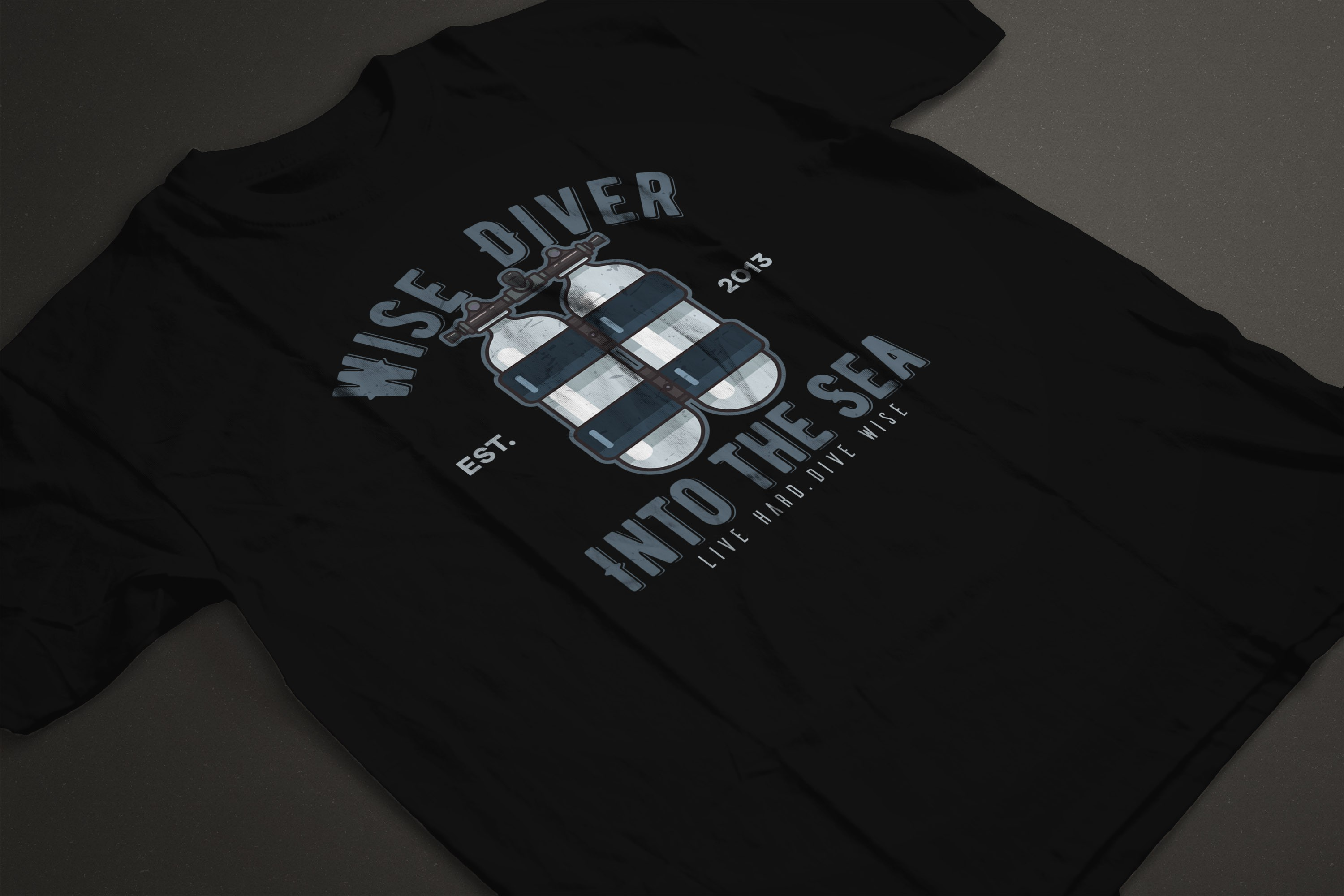 Modification to Diver T-shirt Illustration