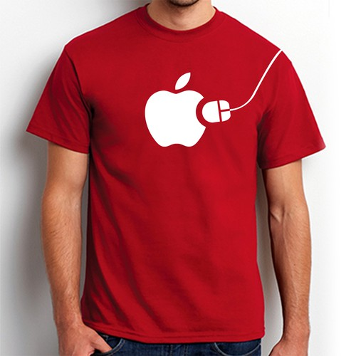Apple themed T-shirt design