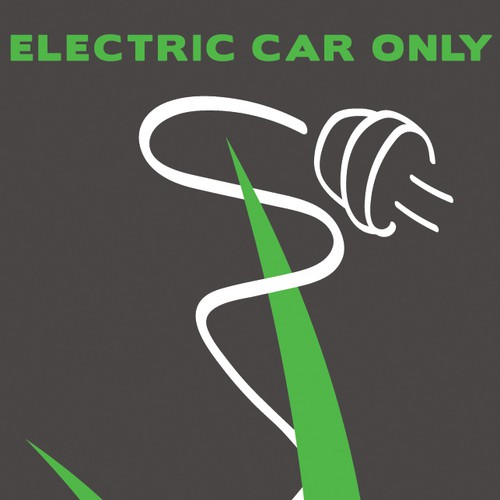 Design Graphics for Electric Car Parking Space