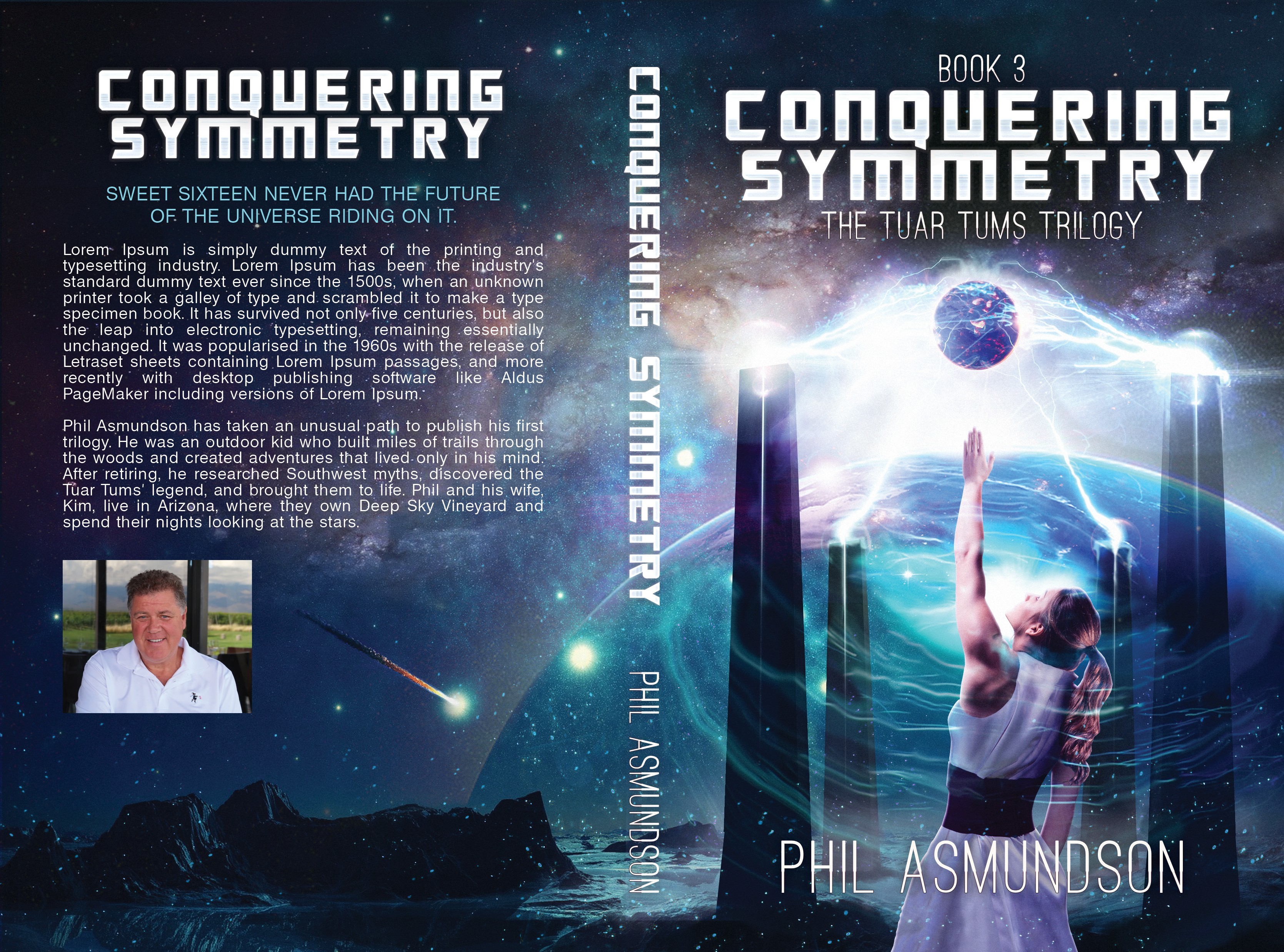 Book cover for third book in hard science fiction novel trilogy