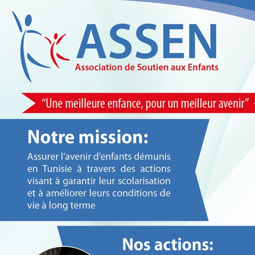 99nonprofits: Roll up banner for Association de Soutien aux Enfants