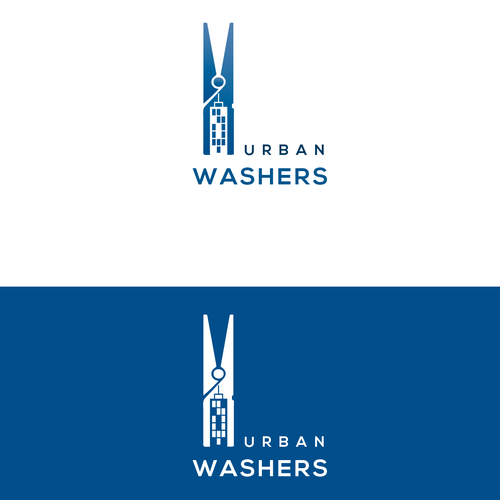 Dry cleaning service logo