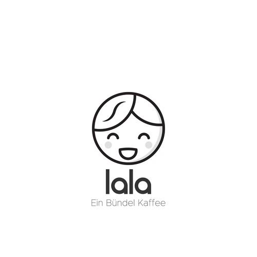 "Logo for coffee cart ""Lala"""