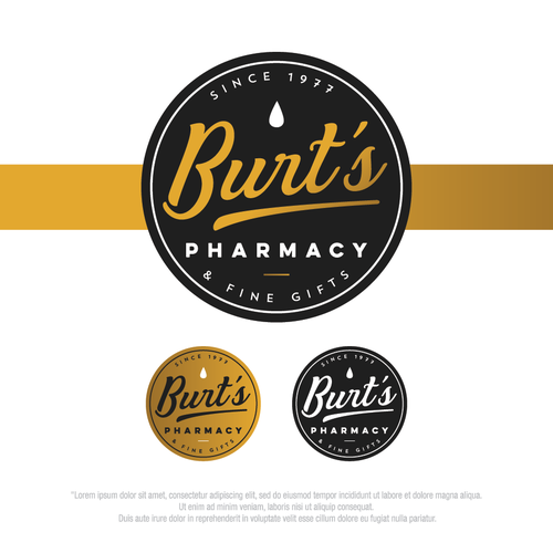 Bold logo for Burt's Pharmacy