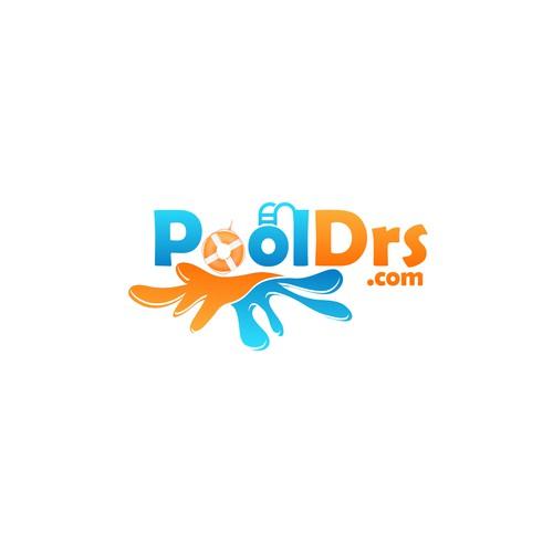 Bold Logo concept for PoolDrs.com