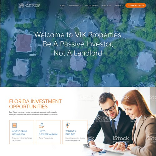 real estate website design contest entry