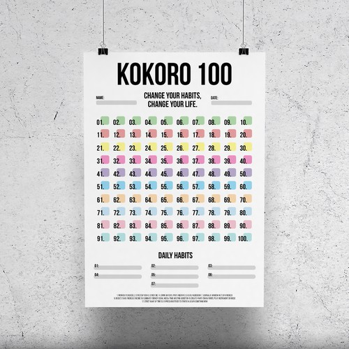 "Poster Design ""Kokoro 100"""