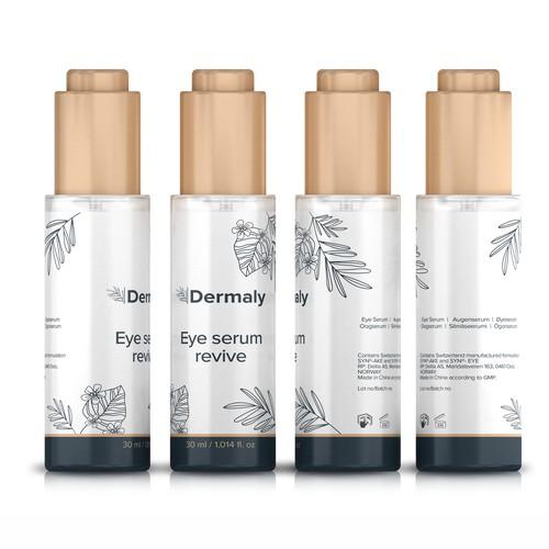 Eye Serum Label Design