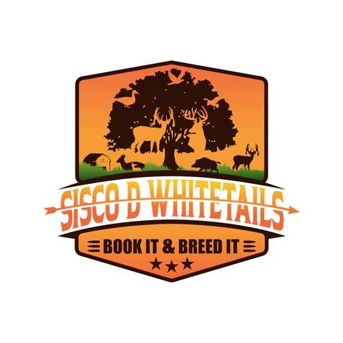 Sisco D Whitetails Logo Badge