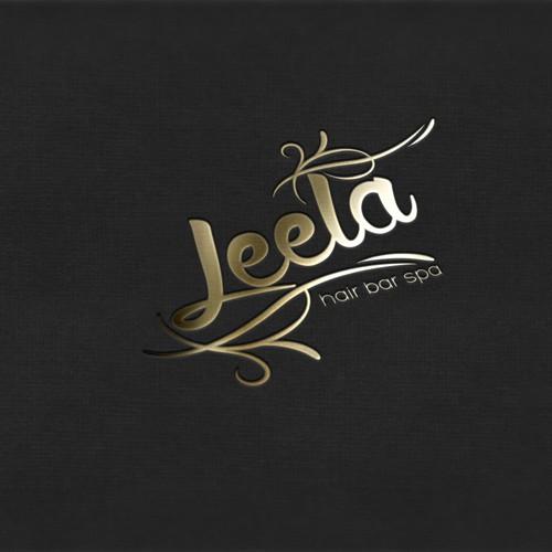 Logo and Business Card Design for LEELA (Hair, Beauty Bar & Spa)