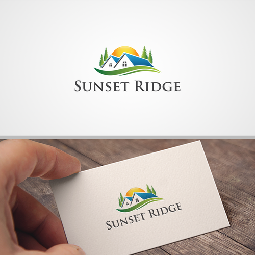"Luxurious logo ""SUNSET RIDGE"""