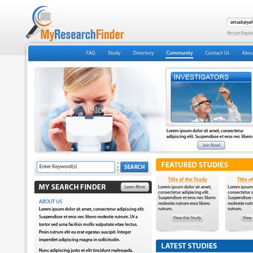 myresearchfinder.com clinicals & research studies